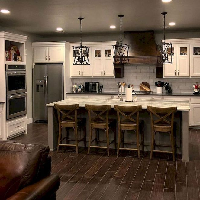 44 The Basic Facts Of Dark Wood Kitchen Cabinets Farmhouse Decor Apikhome Com Country Kitchen Farmhouse Farmhouse Kitchen Design Country Kitchen Decor