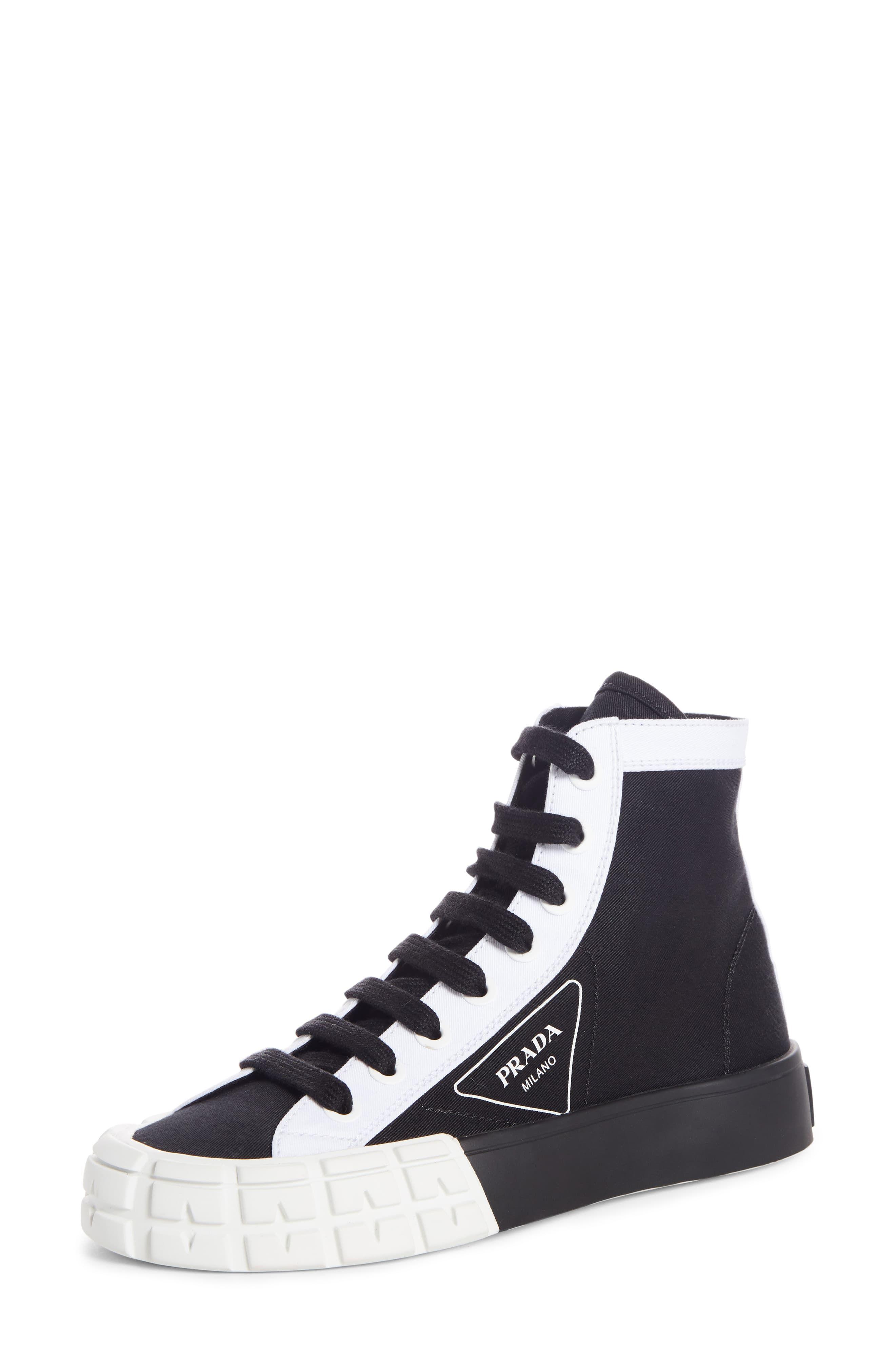 Women S Prada Logo High Top Sneaker Size 8us 38eu Black In