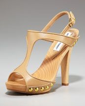 Manolo Blahnik Wooden T-Straps: Trendy + Chic plus make your legs go on for days