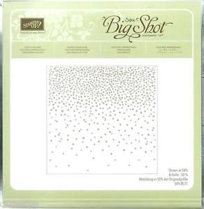 retired Stampin Up SOFTLY FALLING Embossing Folder ~ Sizzix ~ Snow