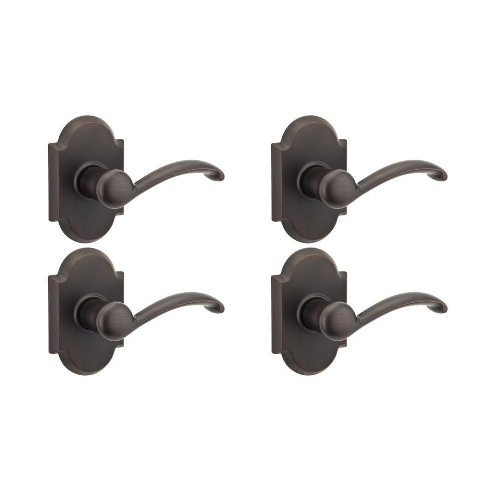 Kwikset Austin Venetian Bronze Keyed Entry Door Handle Set and Lever