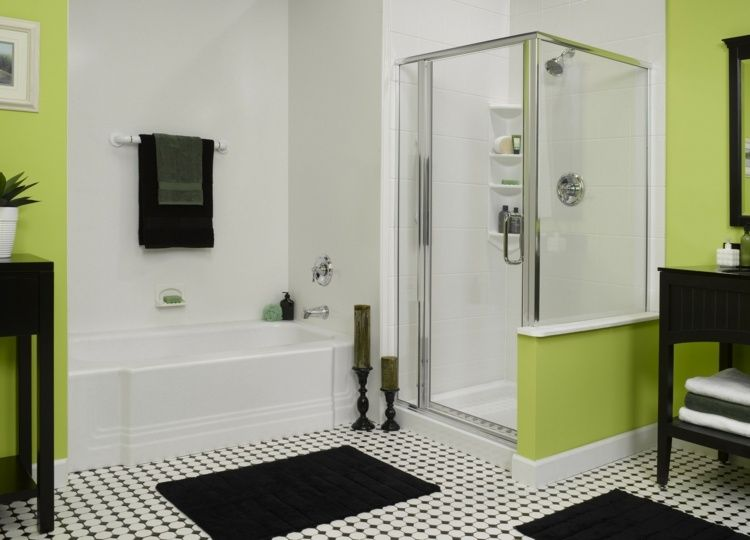 Best Salle De Bain Verte Et Blanche Ideas - Awesome Interior Home ...