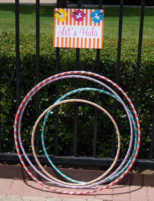 Hula Activities at a Luau Party #luau #partygames | Summer