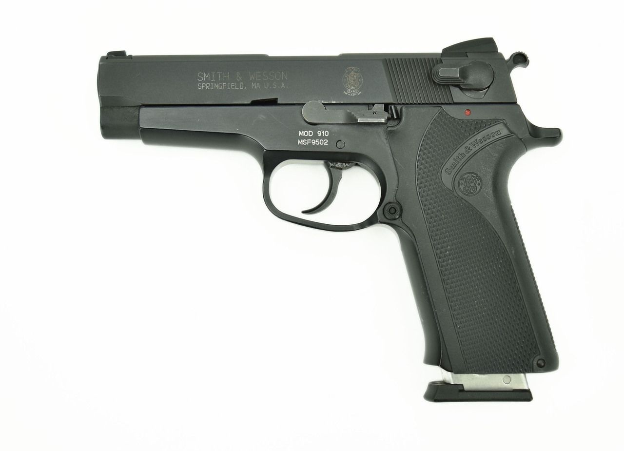 Smith & Wesson 910 .9mm caliber pistol. This is an alloy frame ...
