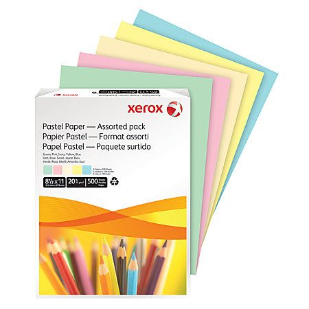Xerox® Multipurpose Color Paper, 8 1 2 - colored writing paper