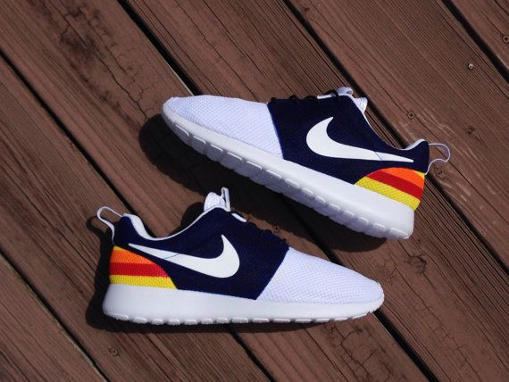 98a1072843901 Houston Astros Inspired Nike Roshes by HJArtistry on Etsy | Shoes ...