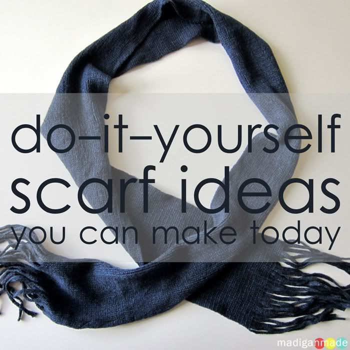 How to make your own scarves lots of great ideas simple 5 simple diy scarf ideas plus many more madigan made simple diy ideas solutioingenieria Image collections