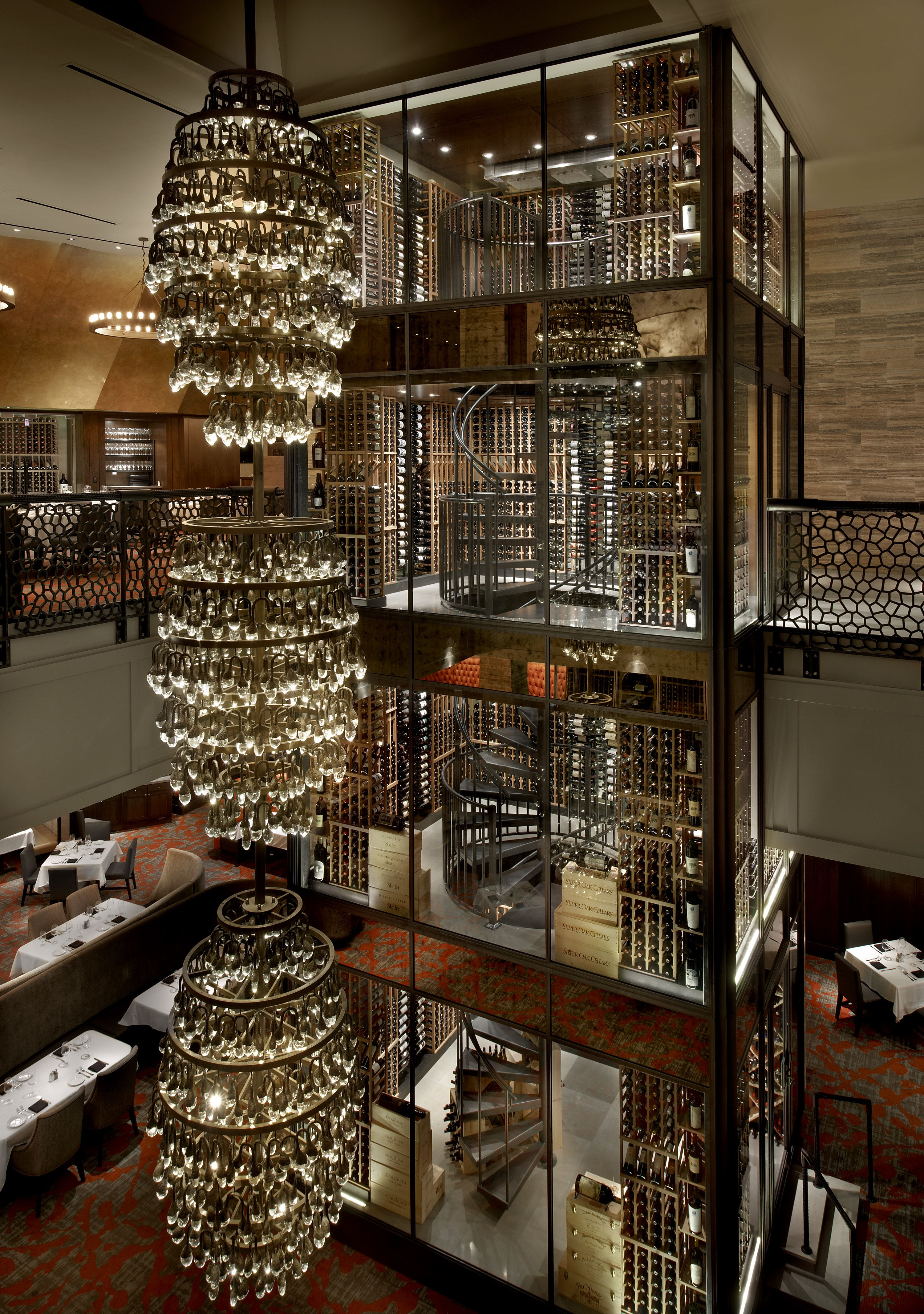Del Frisco S Double Eagle Steakhouse Chicago Restaurants With The Best Wine Storage Architectural Digest