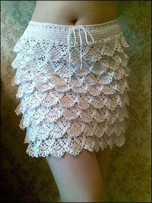 CROCHET - GANCHILLO - PATRONES - GRAFICOS: FALDA A CROCHET   crochet ...