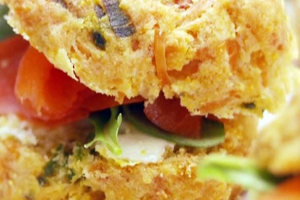 Get Crispy Parmesan Biscuits Recipe from Food Network