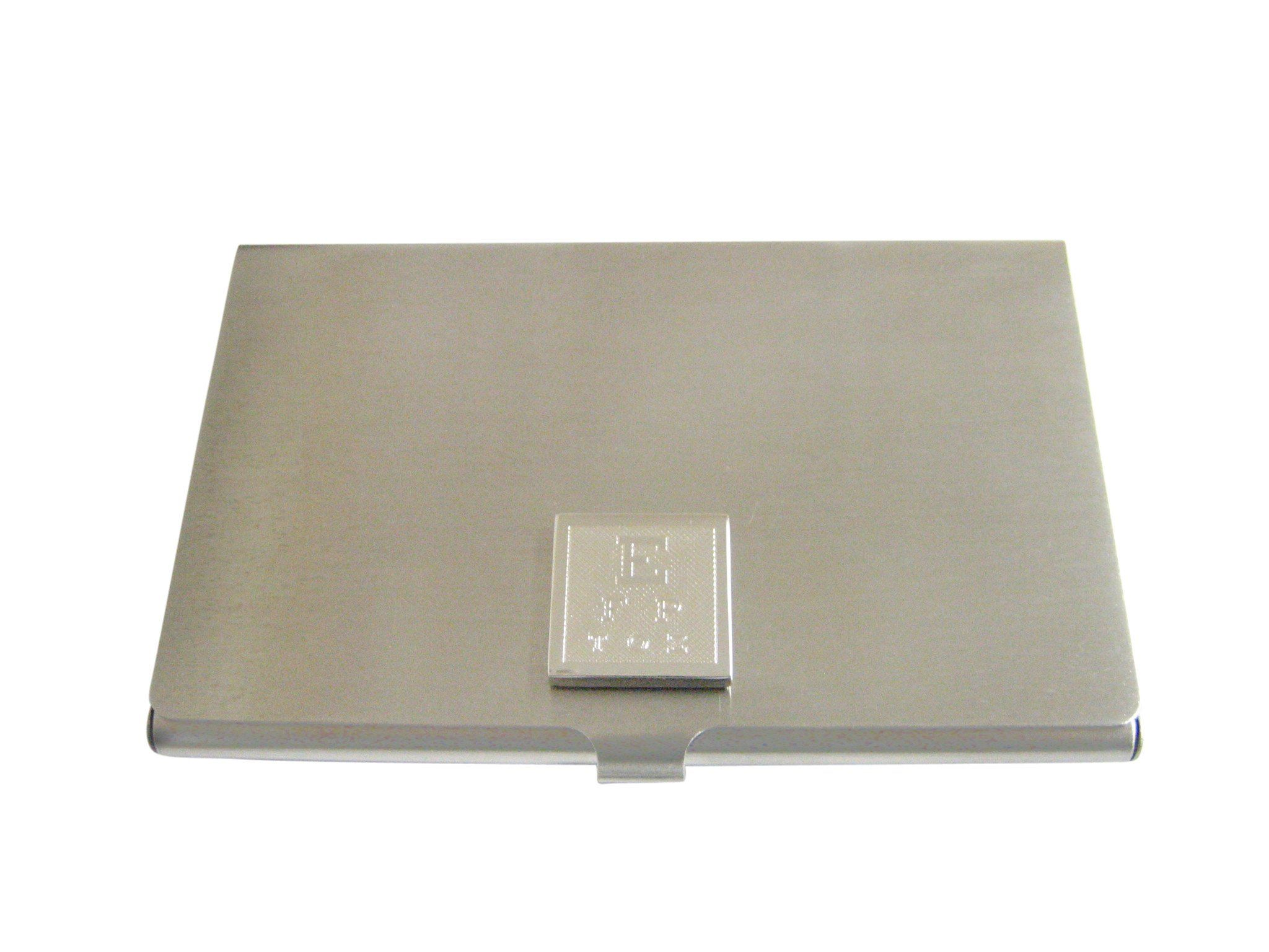 Silver Toned Etched Optometrist Business Card Holder | Business card ...