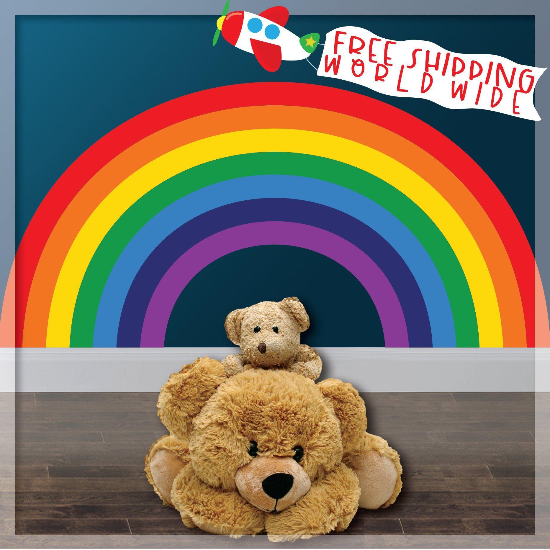 rainbow wall decal for kids rainbow decal rainbow on wall stickers for kids id=18627