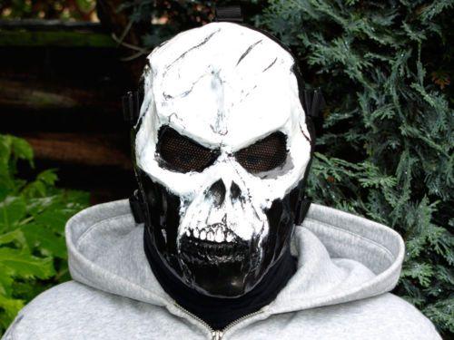 Skull v.1. B/W Airsoft Mask In Stock