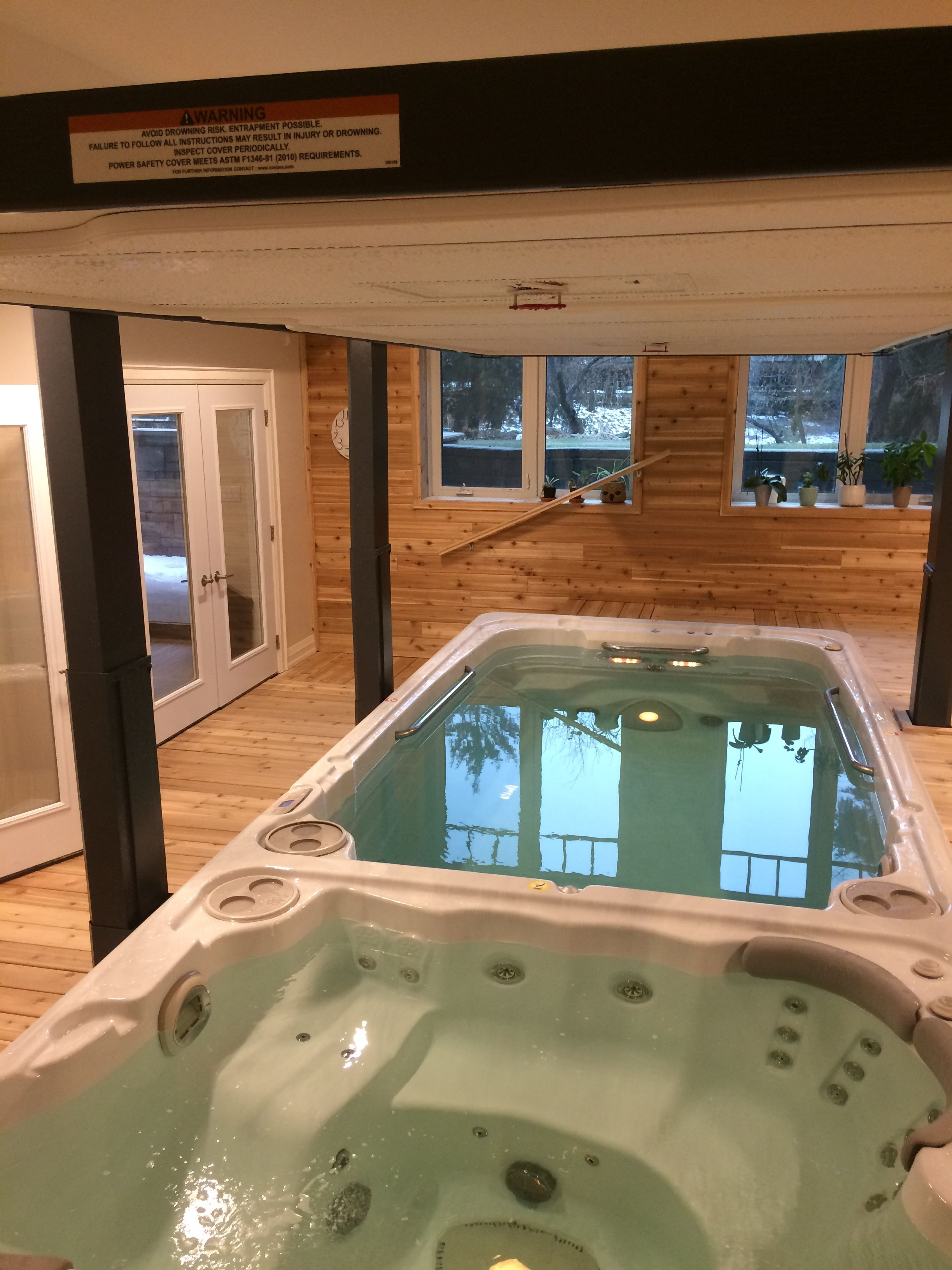 A Beautiful Indoor Swim Spa Install Complete With Automatic Cover