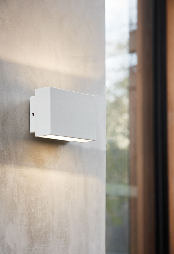 Ledlux Miles Up Down Wall Bracket In White Wall Brackets
