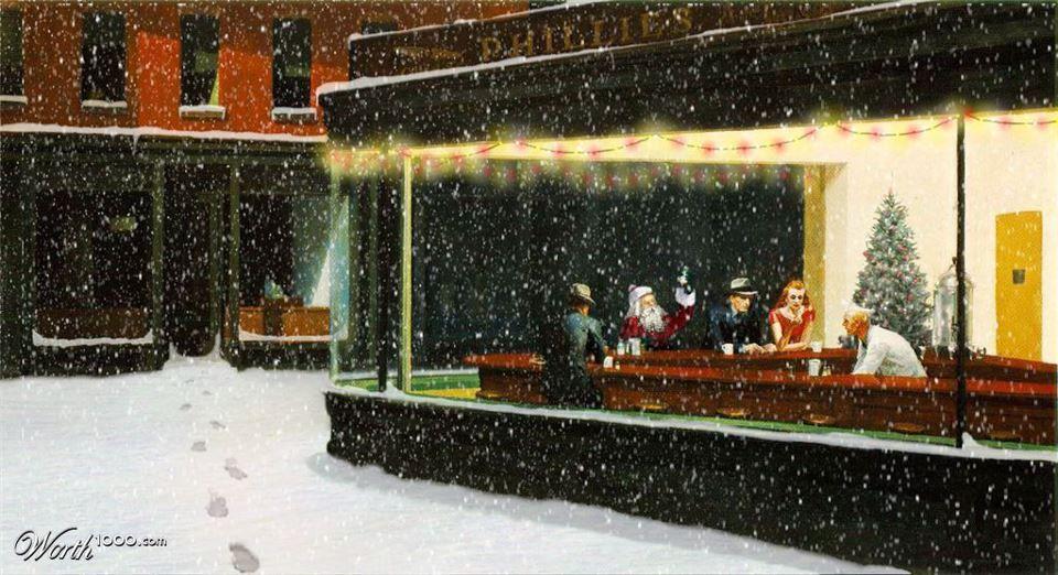 Nottambuli e Babbo Natale #Hopper #christmas