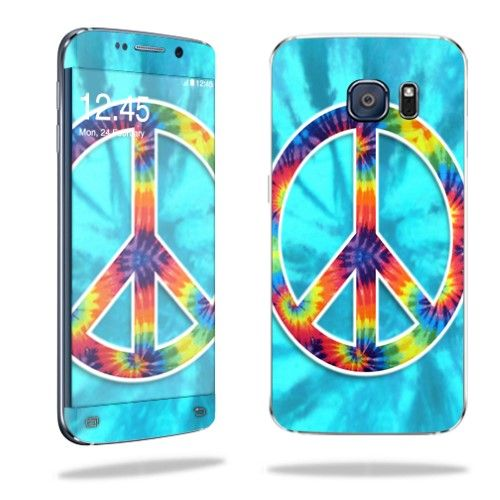 MightySkins Protective Vinyl Skin Decal for Samsung Galaxy S6 Edge wrap cover sticker skins Peace Out