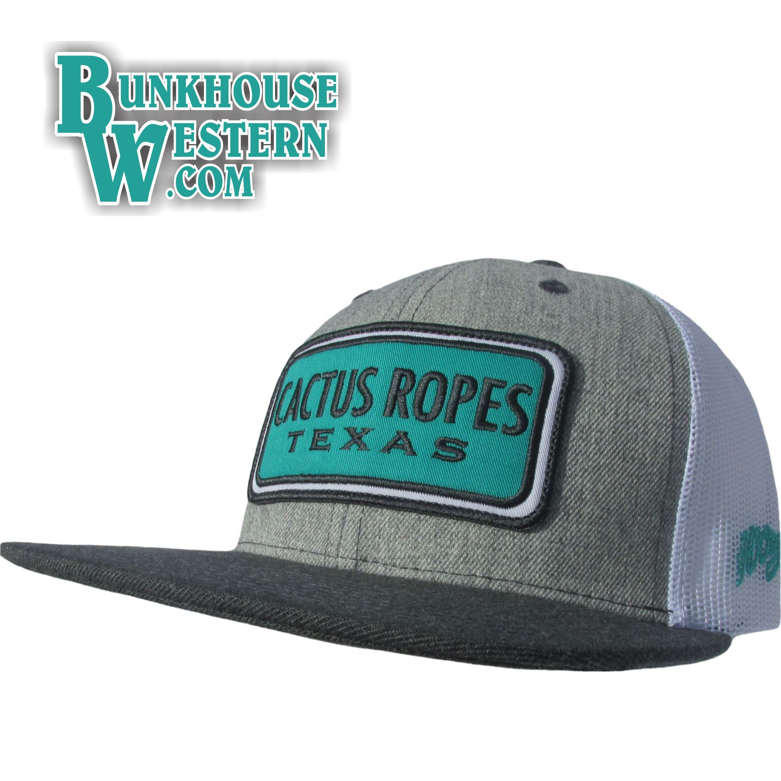 a8265588 Hooey, Cactus Ropes, Texas, Teal Patch, Trucker Cap, Cowboy Hat, Hybrid  (Shapeable) Bill, $30.98