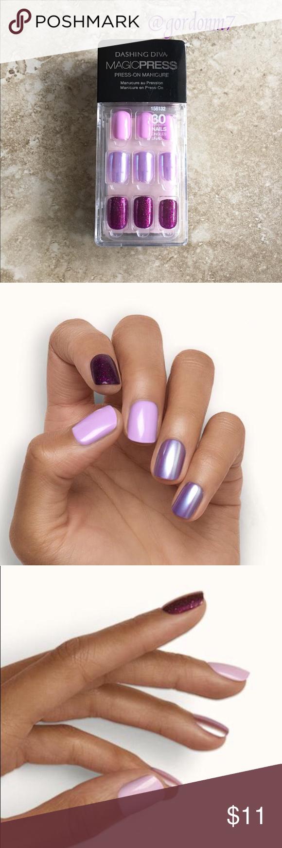 New Dashing Diva Northern Lights Press On Nails Diva Nails Press On Nails Lines On Nails