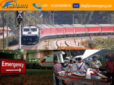 If you want a service of medical train ambulance in Bhopal