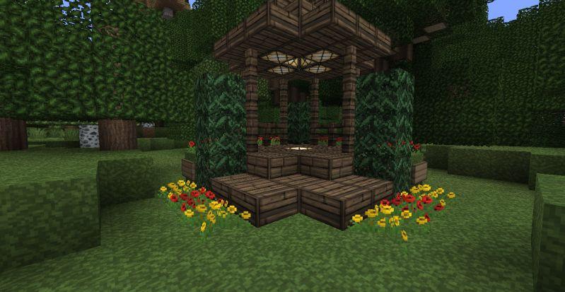 Beautiful MC Garden Idea! Minecraft GardenMinecraft PeMinecraft ...