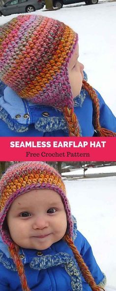 Seamless Earflap Hat [ FREE CROCHET PATTERN | Häkeln | Pinterest ...