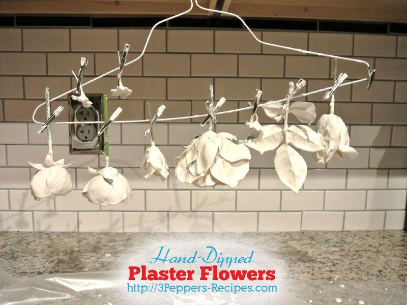 Hand-Dipped Plaster Flowers – The Basics