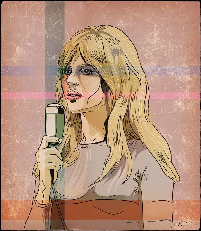 Marianne Faithfull illustration in progress