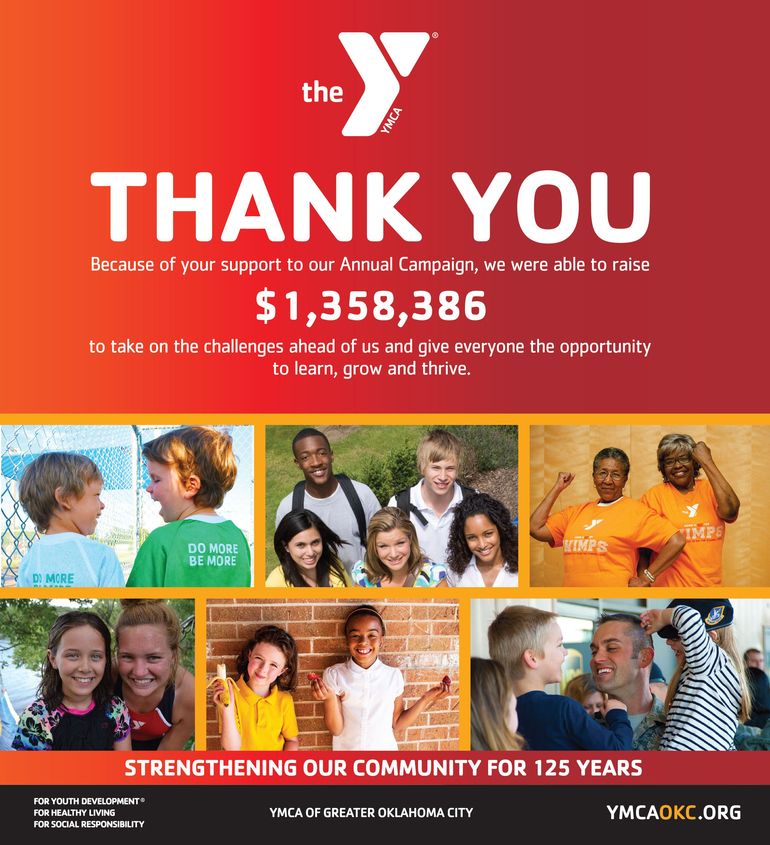 By giving to the ys annual campaign you help ensure that
