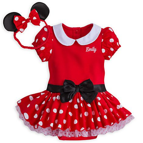 f53a49e2362a Minnie Mouse Costume Bodysuit for Baby - Red - Personalizable ...