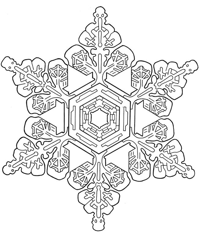 Snowflake Mandala Coloring Pages Coloring For Kids Snowflake ...