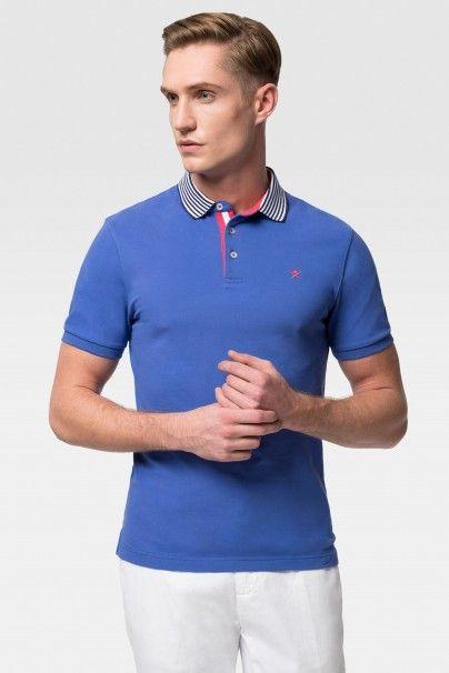 Hackett Stripe Placket Logo Polo Shirt - Polo Shirts - Shop By Product - Men | Hackett
