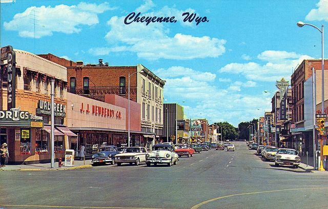 sventeenth street cheyenne wyoming 1950s Cheyenne wyoming and Wyoming