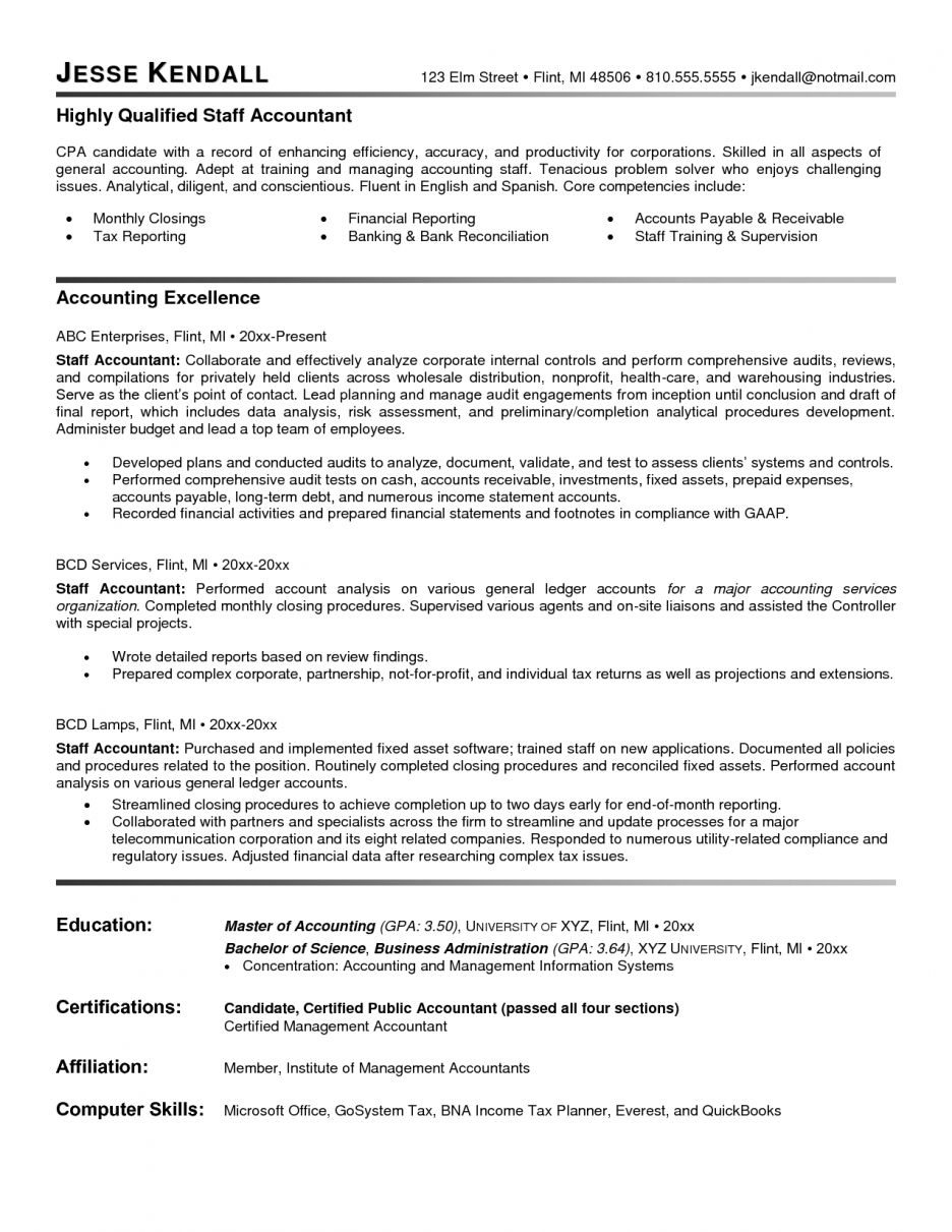 Project Accountant Sample Resume Ground Worker Cover Letter Free
