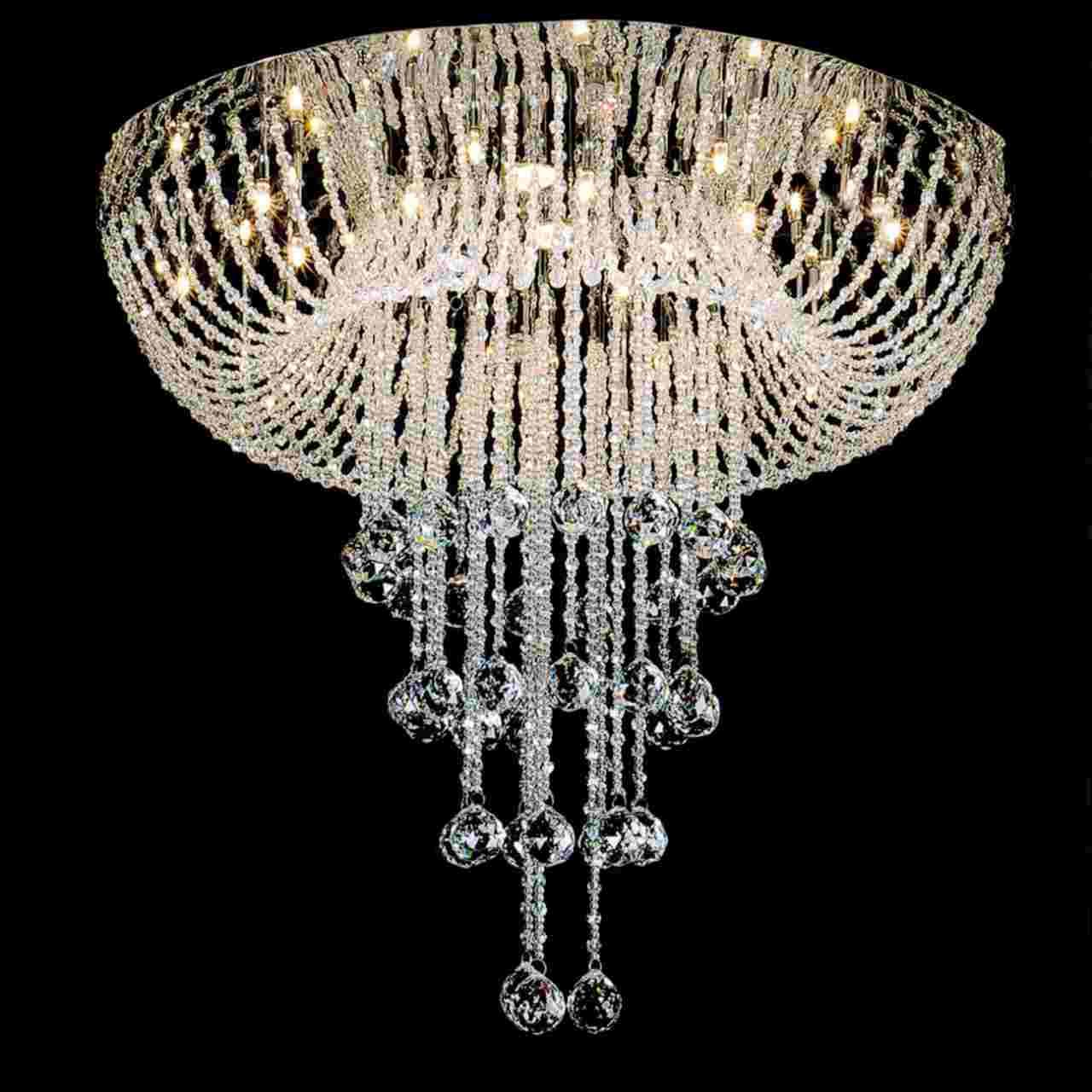Show details for 24 chateaux modern foyer crystal chandelier mirror show details for 24 chateaux modern foyer crystal chandelier mirror stainless steel base 16 arubaitofo Gallery