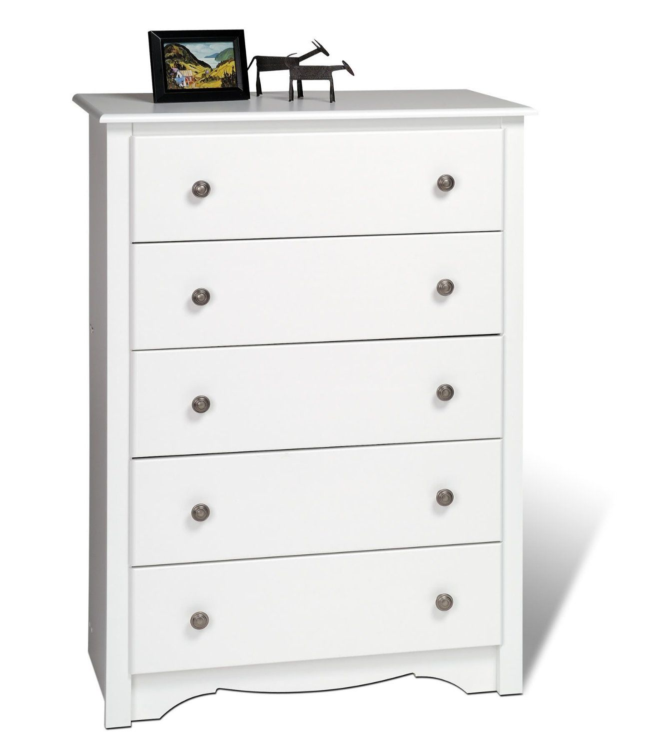 amazon com furniture by prepac white monterey 5 drawer chest