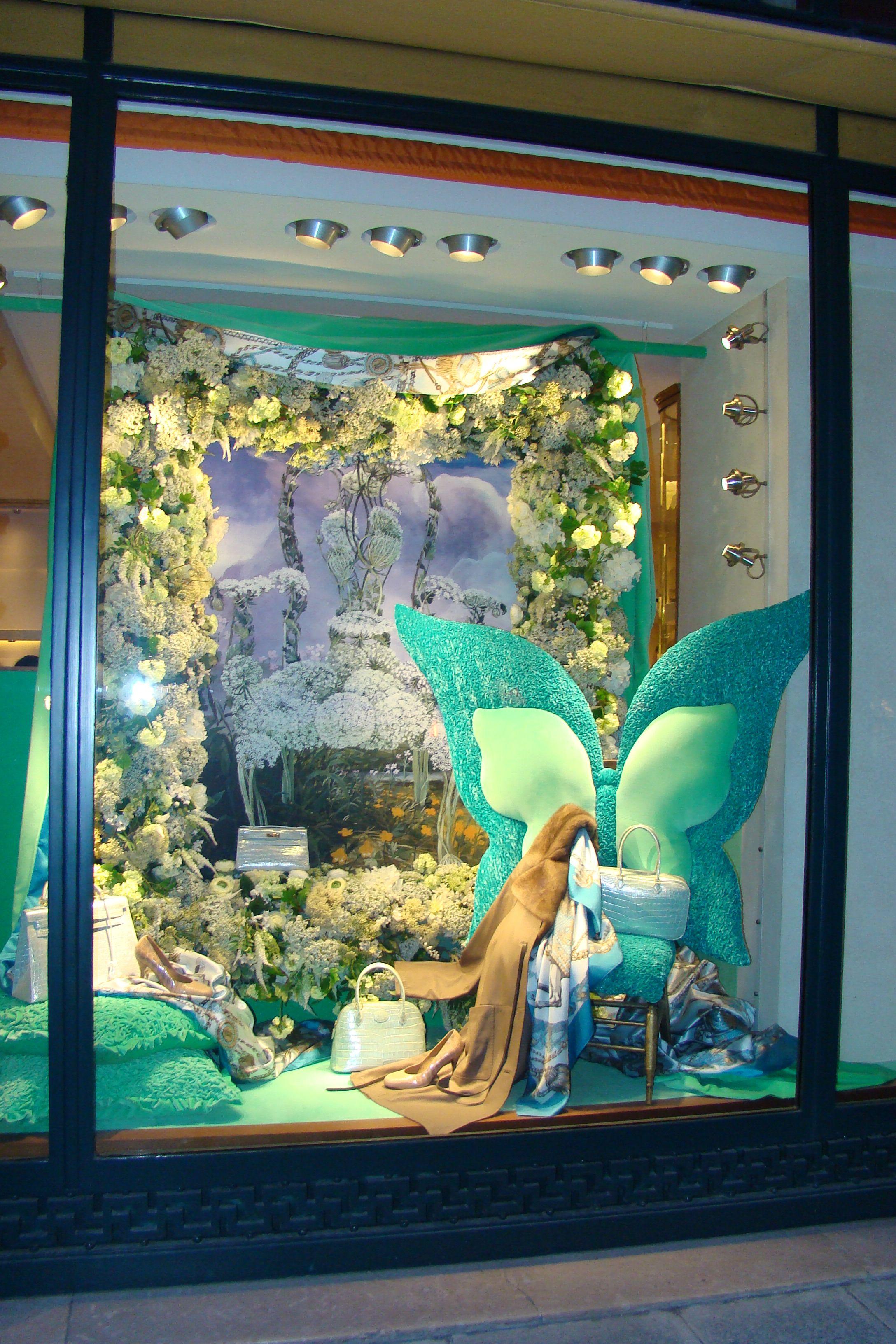 hermes spring fantasy window blues display in 2019