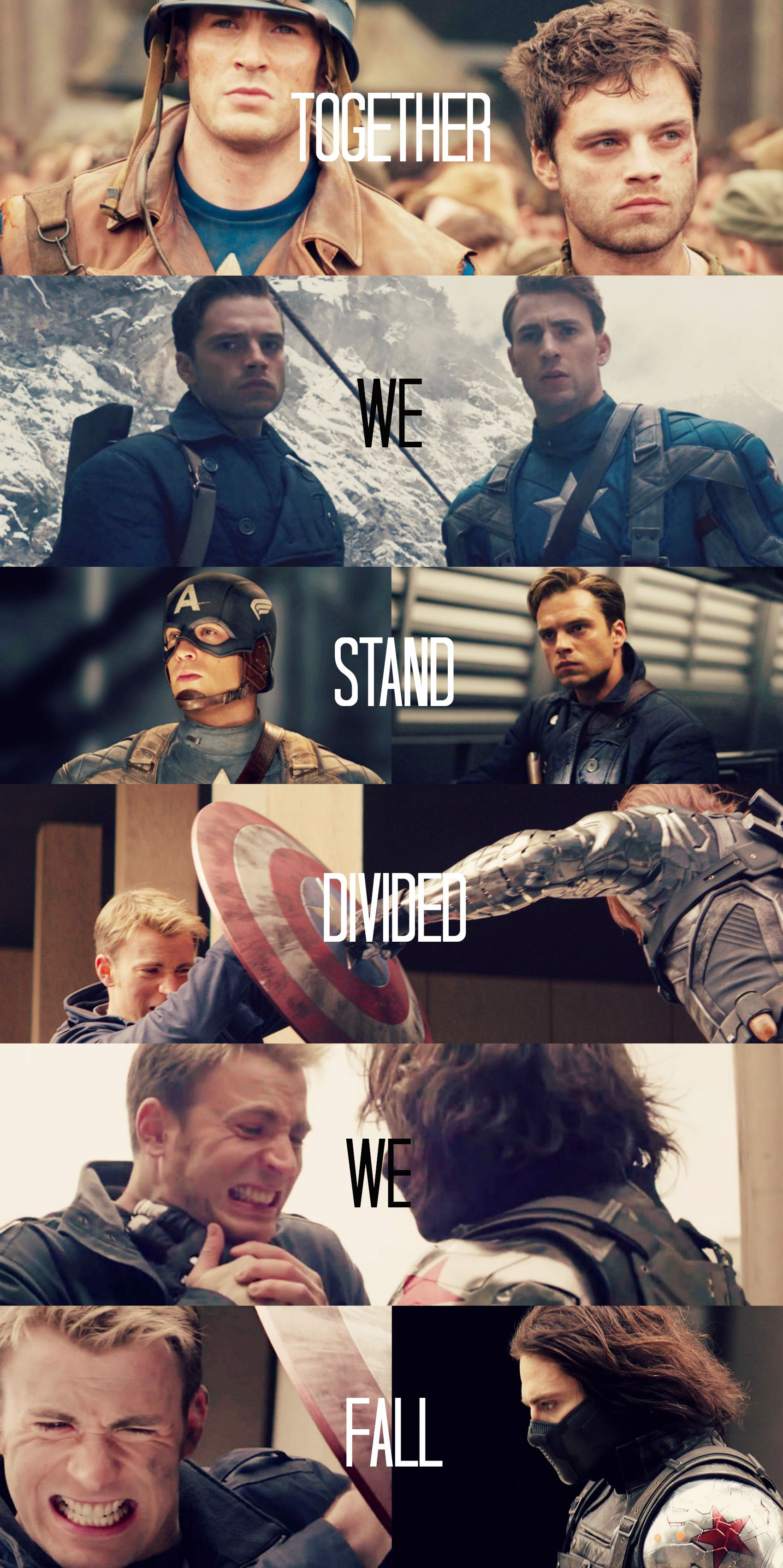 Steve And Bucky Captain America Captain America Winter