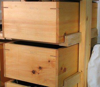 Wooden drawer slides | Hardware storage | Pinterest