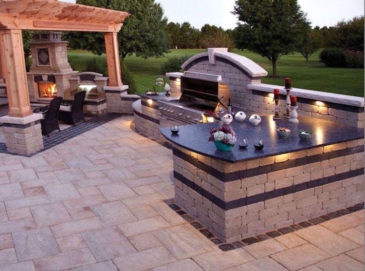 Outdoor Küche Beleuchtung : Grillplatz garten selber bauen edel pergola outdoor küche
