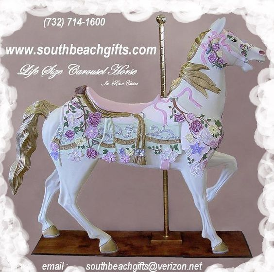 Pastel Pink Color Carousel Horse Decoration Ofr Birthday