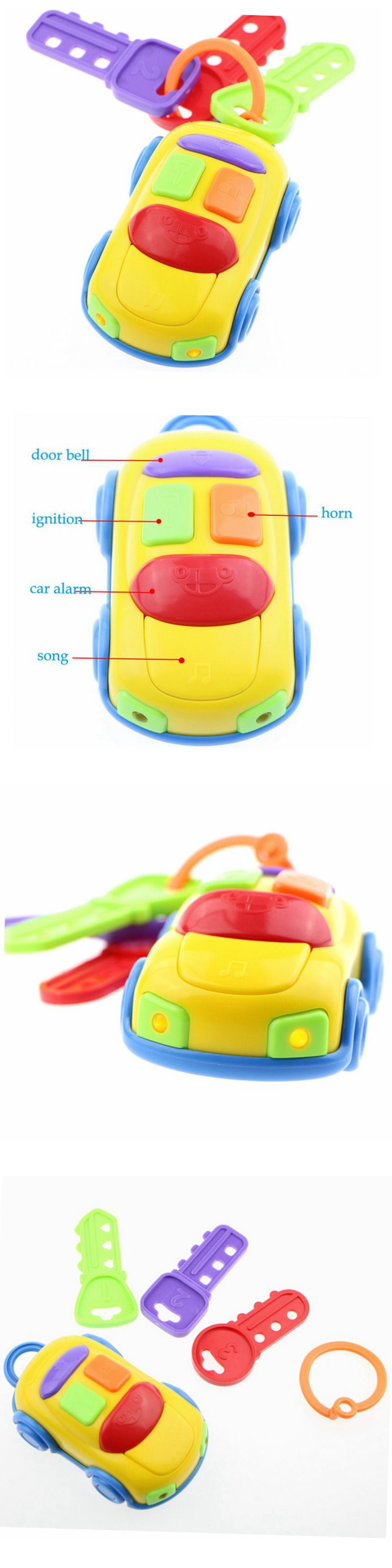 Baby toys car  Kid Toy Car Keys Remote With Lights And Sounds Children Toys Baby