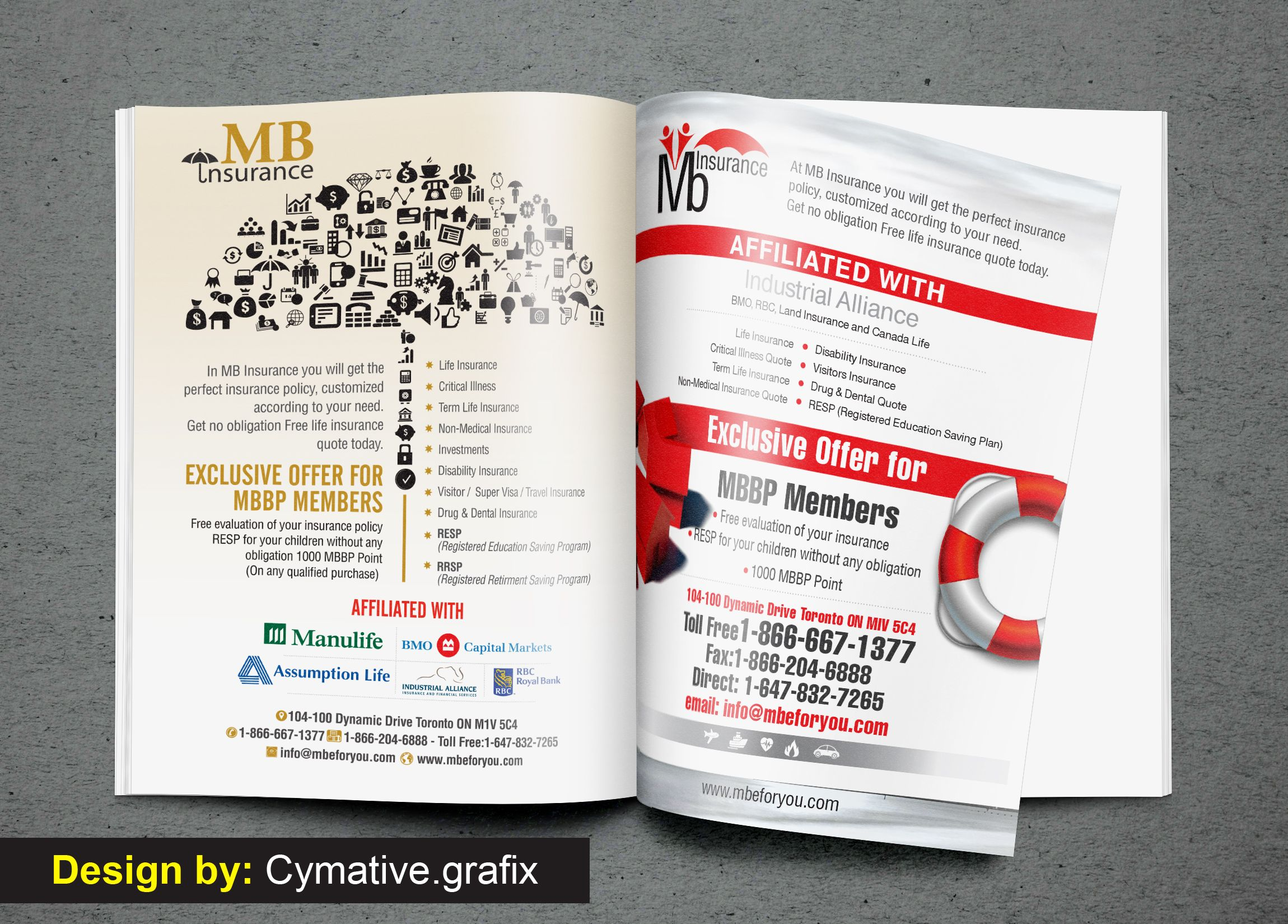 Magazine A4 Ad Insurance Conceptual Design For Canada Magazine Conceptual Design Article Design Ads