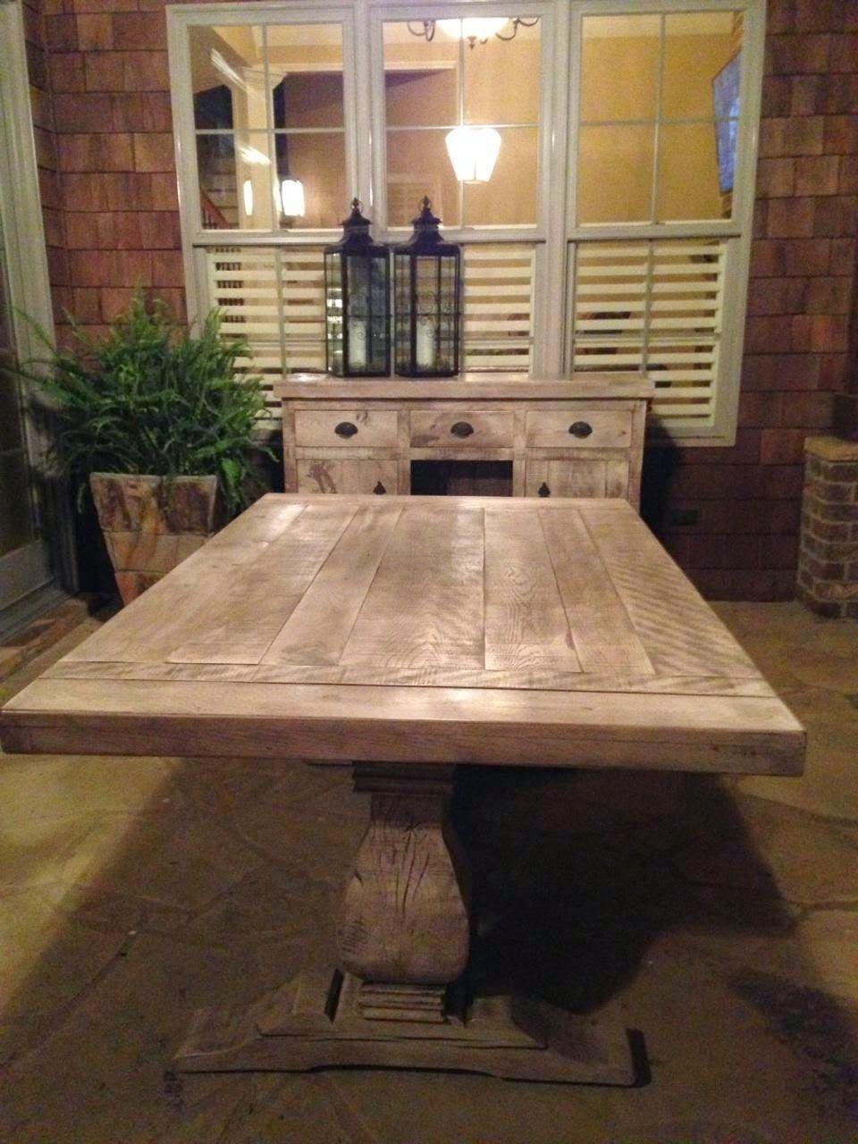 Weston Trestle Table And Buffet | Custom Built Furniture | Atlanta Georgia  | Rustic Trades Furniture