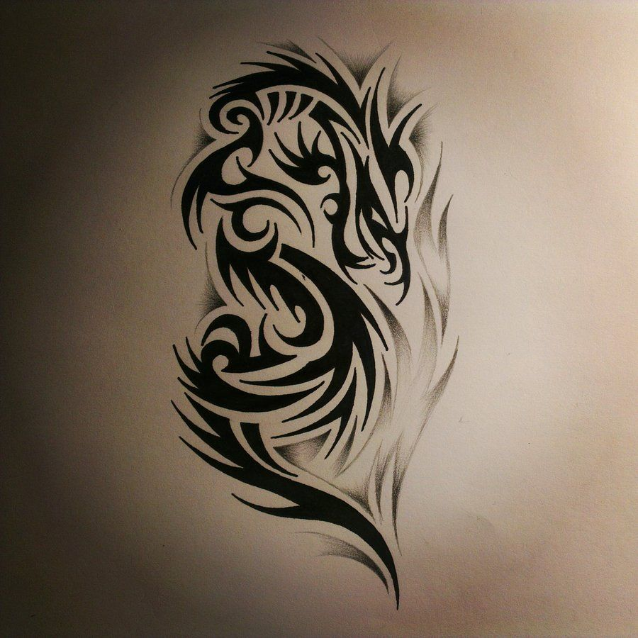 Tattoo Dragon Outline Dragon Tattoo Over The Shoulder