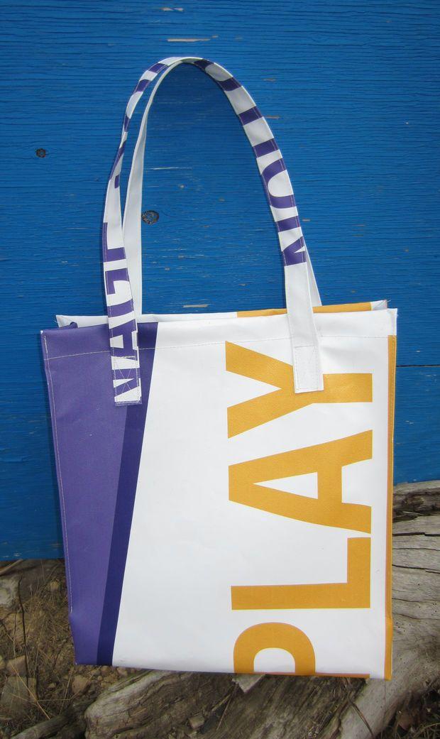 Vinyl Tote Bag Made From Recycled Billboard Tote Bag Vinyl Bag Bags
