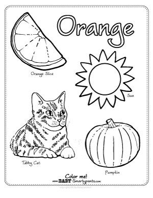 The Color Orange {Coloring Page} Free coloring pages and