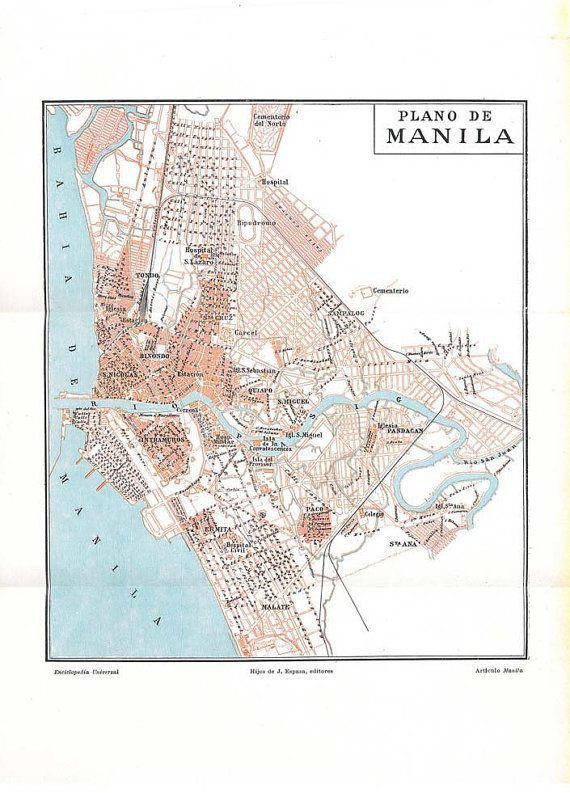 Manila vintage city plan street map 1920s philippines pinterest manila vintage city plan street map 1920s philippines by carambas publicscrutiny Images