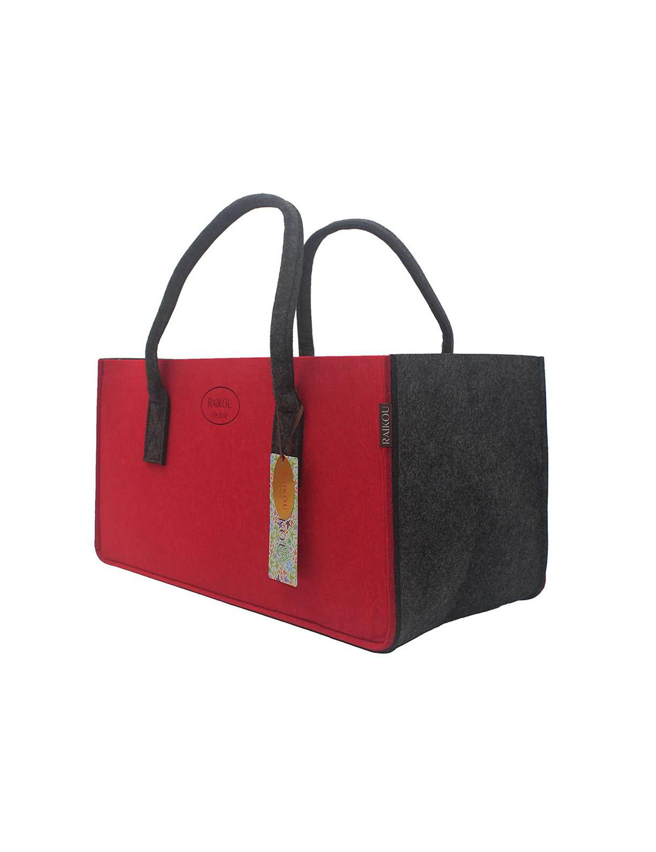 Strandtasche,Badetasche RAIKOU KULT Filz-Tasche Hochwertige Einkaufstasche