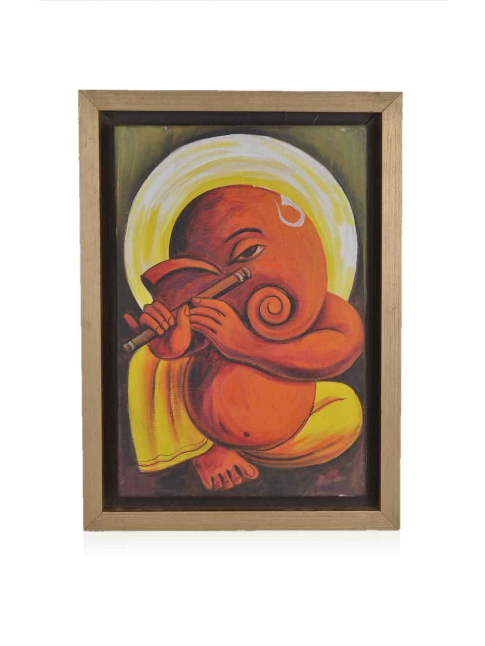 Buy online sunita khedekar paintings - Artitude Ganesha Hand Painting With Flute